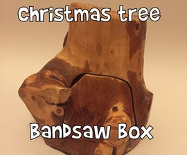 Bandsaw box from Christmas tree