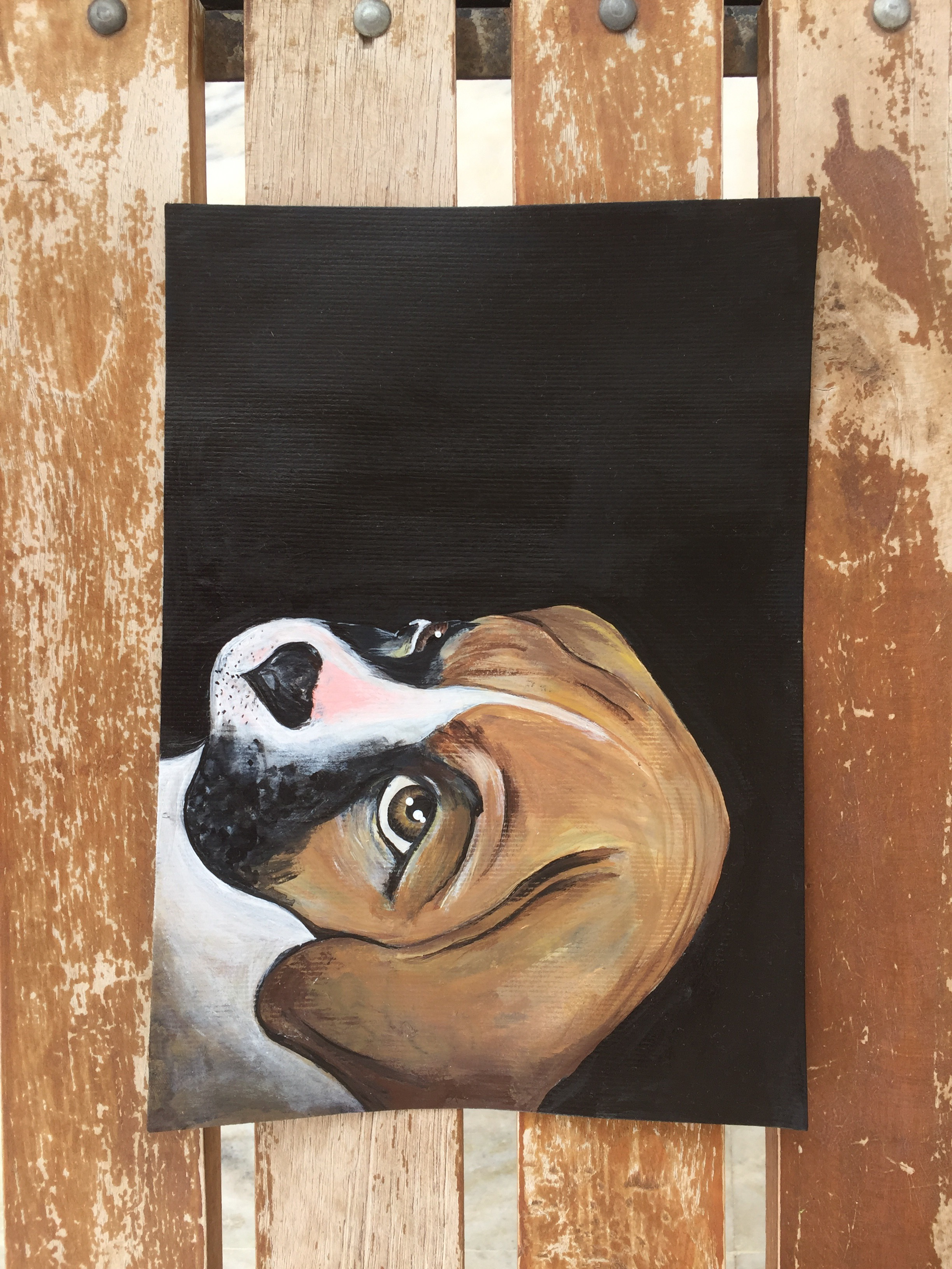 Picture of Acrylic Painting of Dog