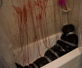 Murder scene Halloween decor