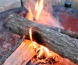 DIY Backyard Bonfire Starter