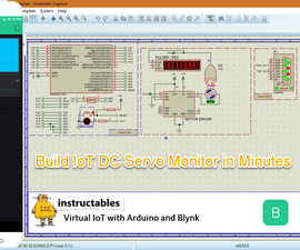 Virtual IoT With Proteus and Blynk : Servo Motor Speed Monitor