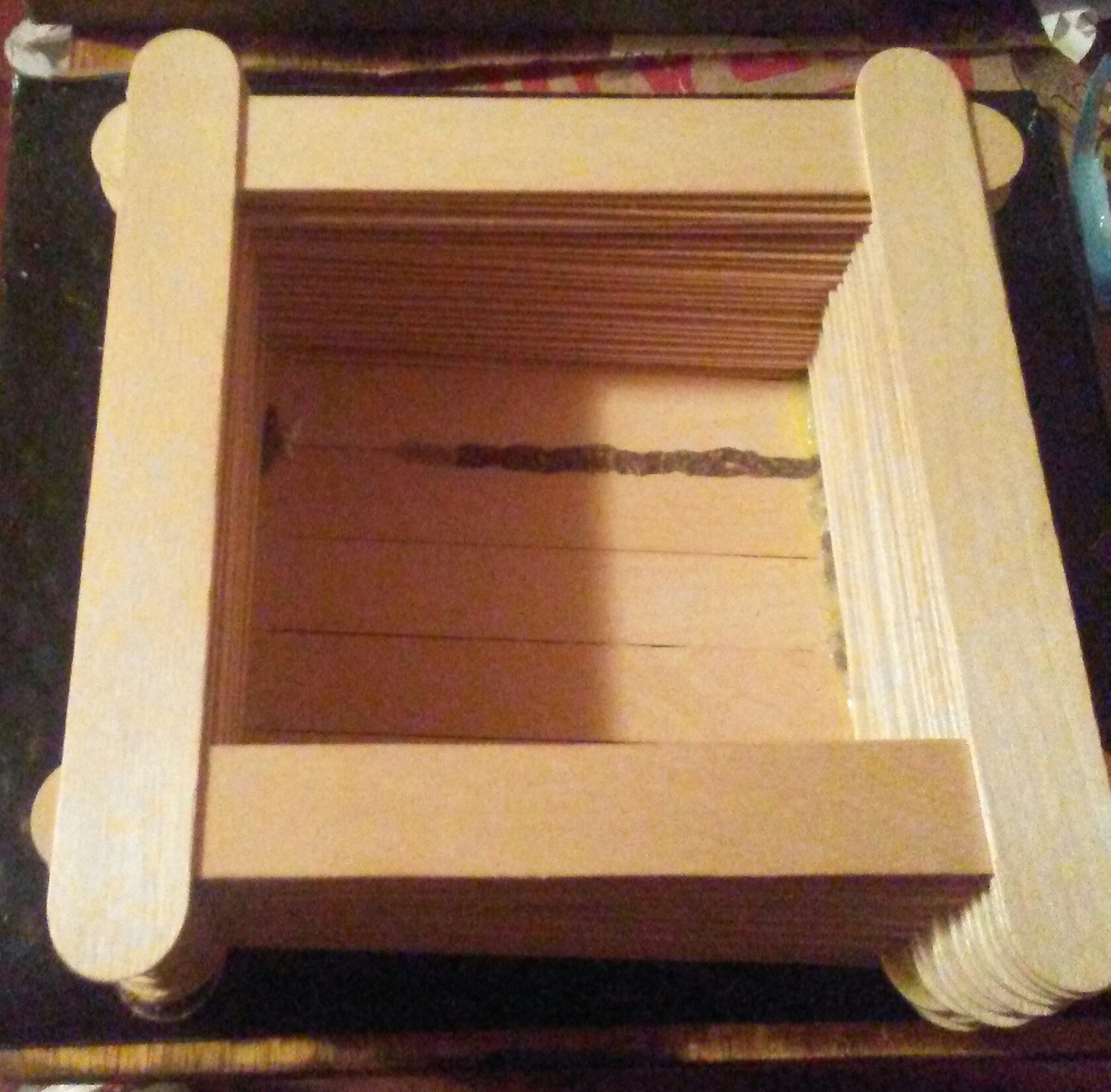 Picture of Wood Box Made From Quart Paint Stirrers