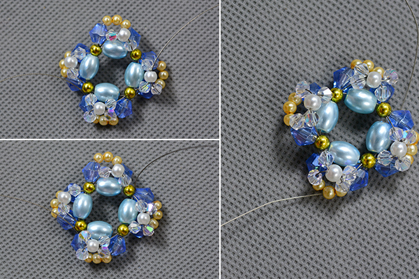 Picture of Continue to Decorate the Pearl Beads Necklace With Clear Faceted Glass Beads