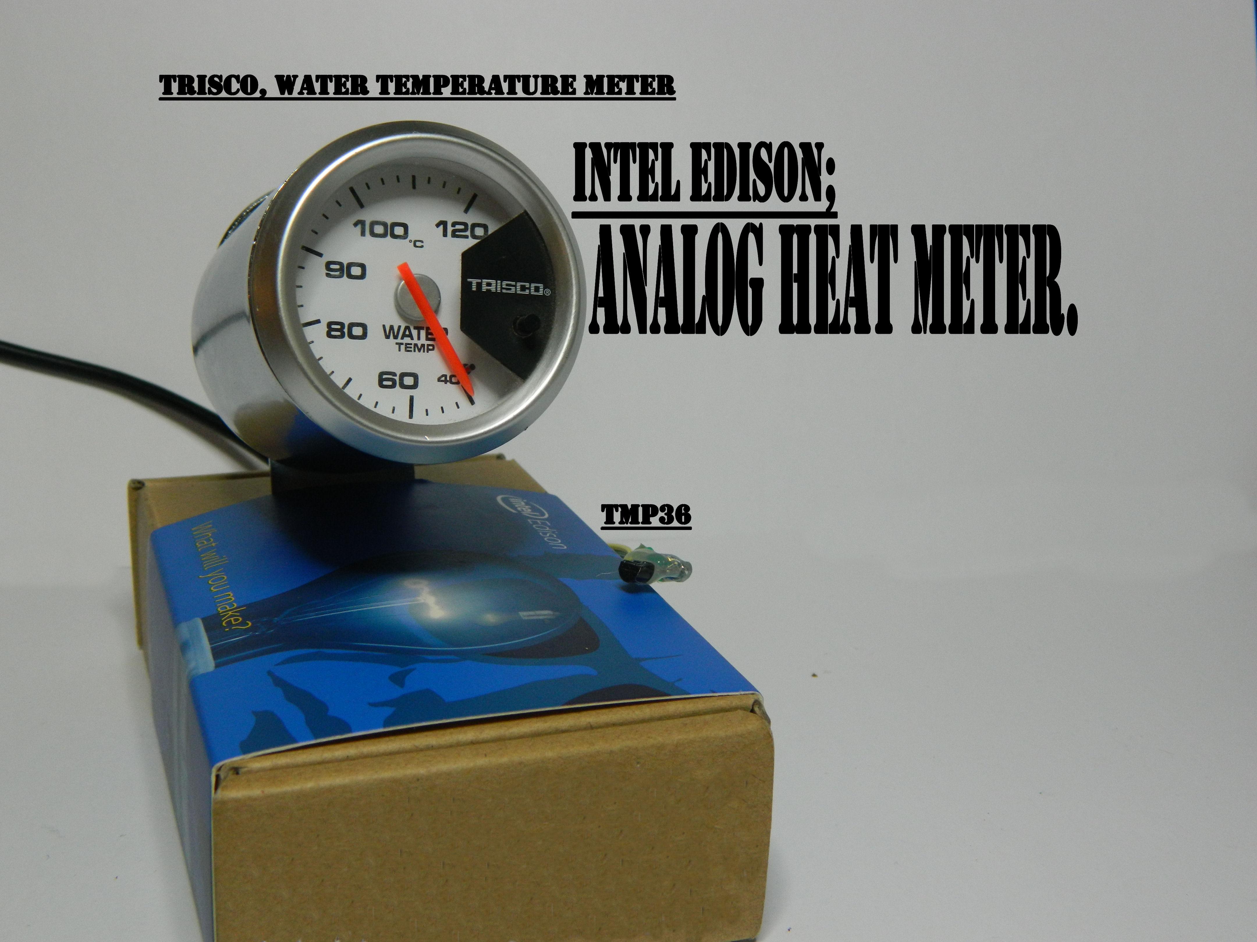 Picture of Intel Edison: Heat Meter, TMP36