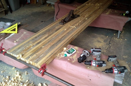 Creating the Reclaimed Bowling Alley Bar Top