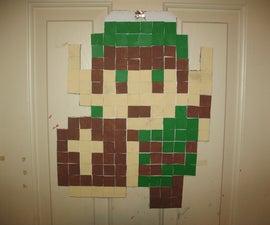 8-Bit Sprite Posters (Link,Mario,Green Rupee)