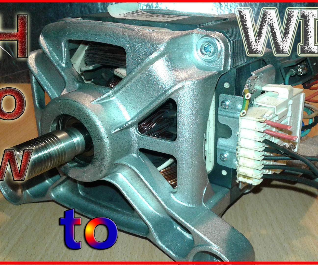 Washing Machine Motor Wiring Basics: 3 Steps on
