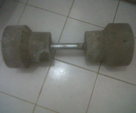 How to make cement dumbbells for weightlifting