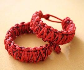 Survival bracelet with fishing line