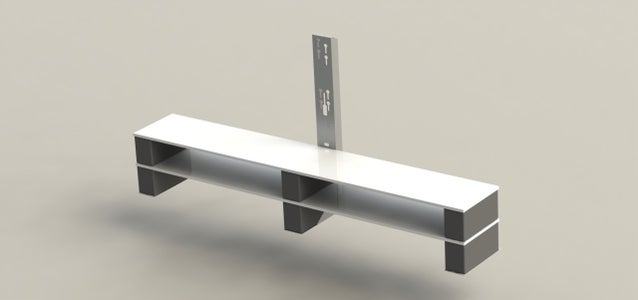 The Concrete and Mdf Tv Bench