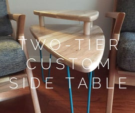 Two-Tier Custom Cherry Side Table