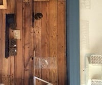 Pallet Accent Wall and Shelves