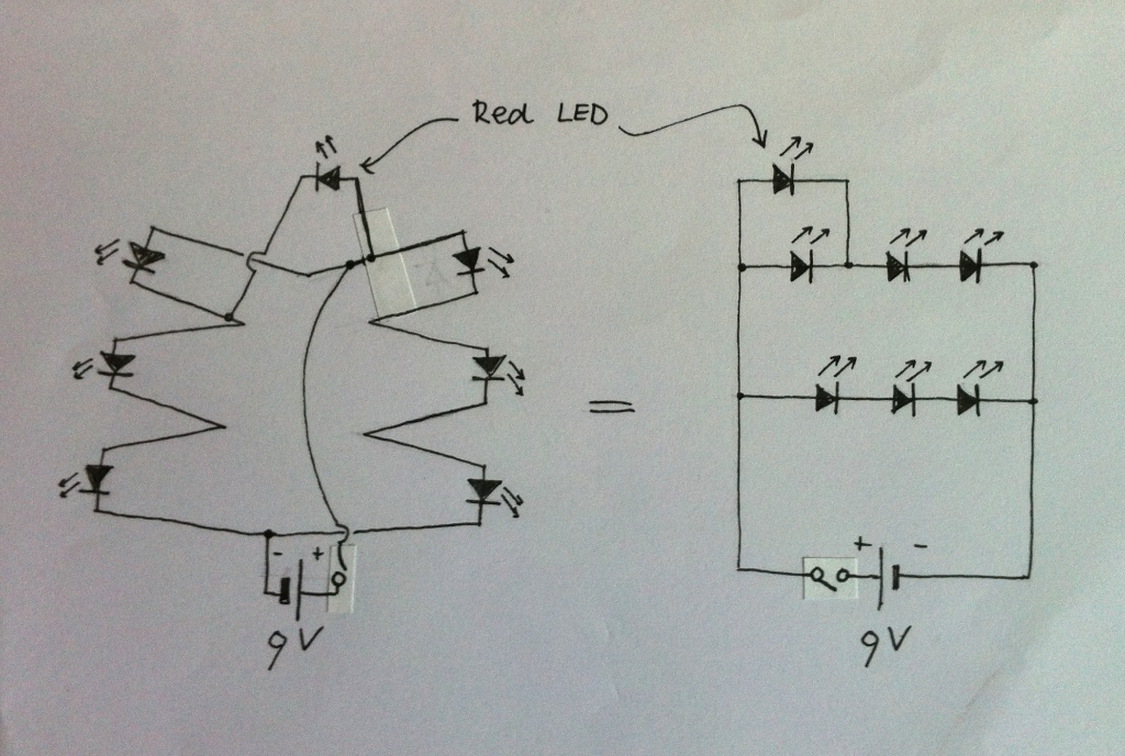Picture of The Circuit of a LED Christmas Tree...