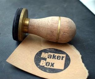 Custom Stamp With Brass Inlay