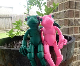 Froggy: The 3D printed ball-jointed frog doll