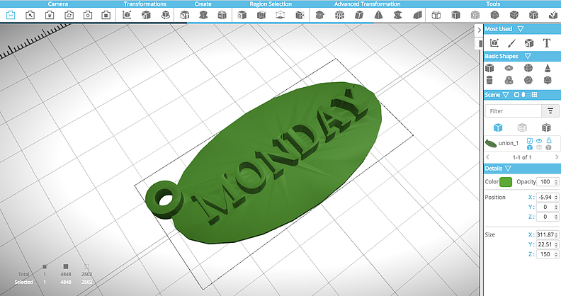Picture of How to Create a Printable 3D Designed Keychain Using SelfCAD