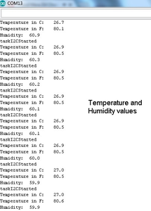 Code for Reading Temperature and Humidity Values