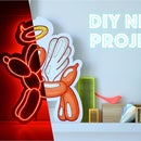 DIY Neon Sign Balloon Dog With Neon Wire :)