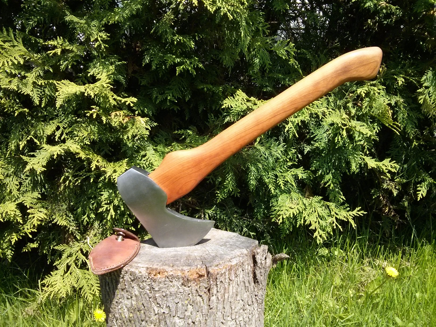 Picture of Artisan Axe Created From Discarded Vintage Axe Head