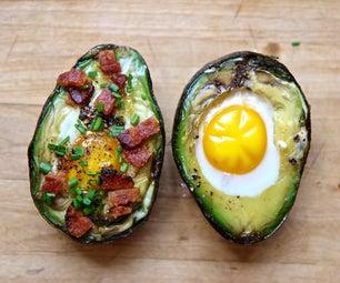 Egg in an Avocado Hole