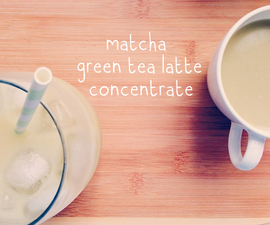 Make a Matcha Green Tea Latte Concentrate (For Classic Hot Latte, Iced Latte, and Blended Frappé!)