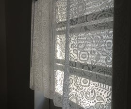 DIY NO SEW LACE CURTAINS