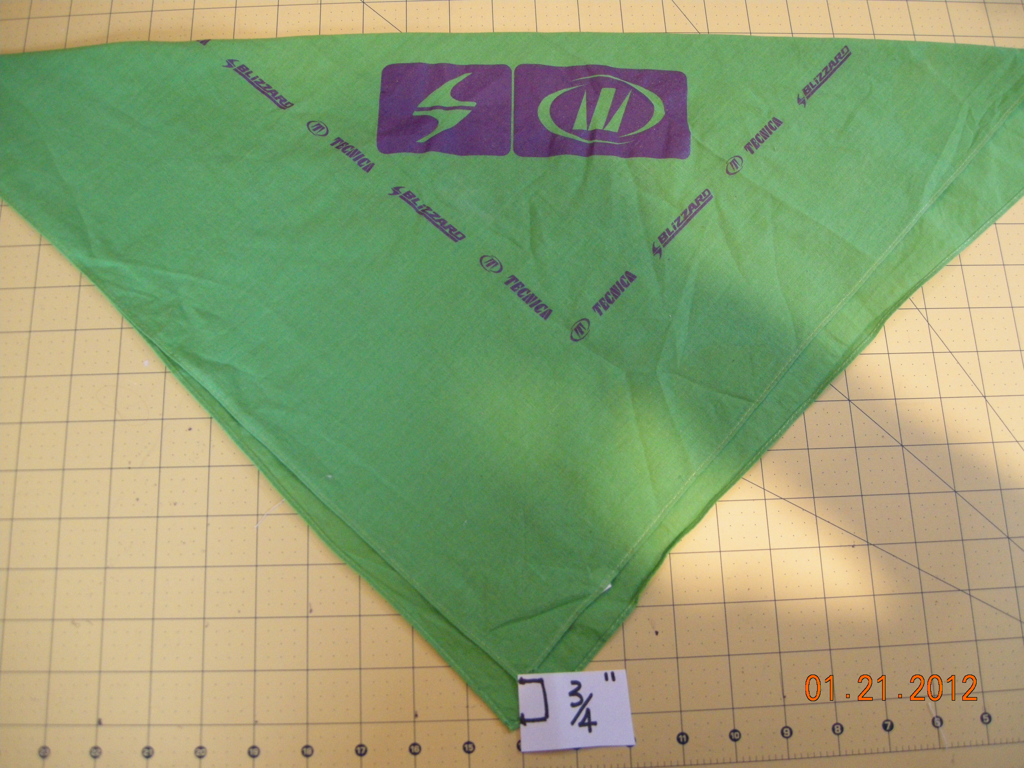 Picture of Step 2:  Folding the Bandana Diagonally