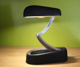 Jumo Inspired Wood Desk Lamp