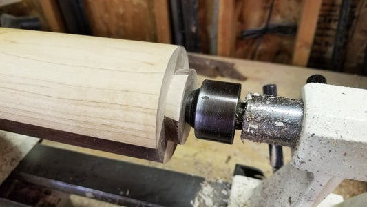 Turn Dovetail and Drill Pilot Hole
