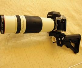 Camera gun stock