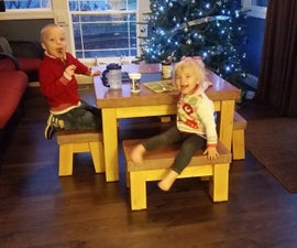 The Un-flippable Concrete Kids Table (Lessons in form making and recovering from failures)