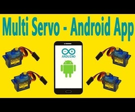 Arduino - Multi Servo Motor Control Via Bluetooth Using the Android App