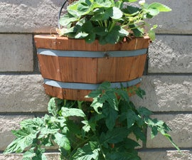 How to build an attractive, space saving upside down planter.