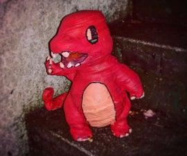 Pokemon Models From Scrap Cardboard
