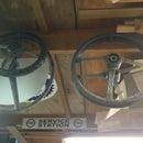 Cut down British racing wheel