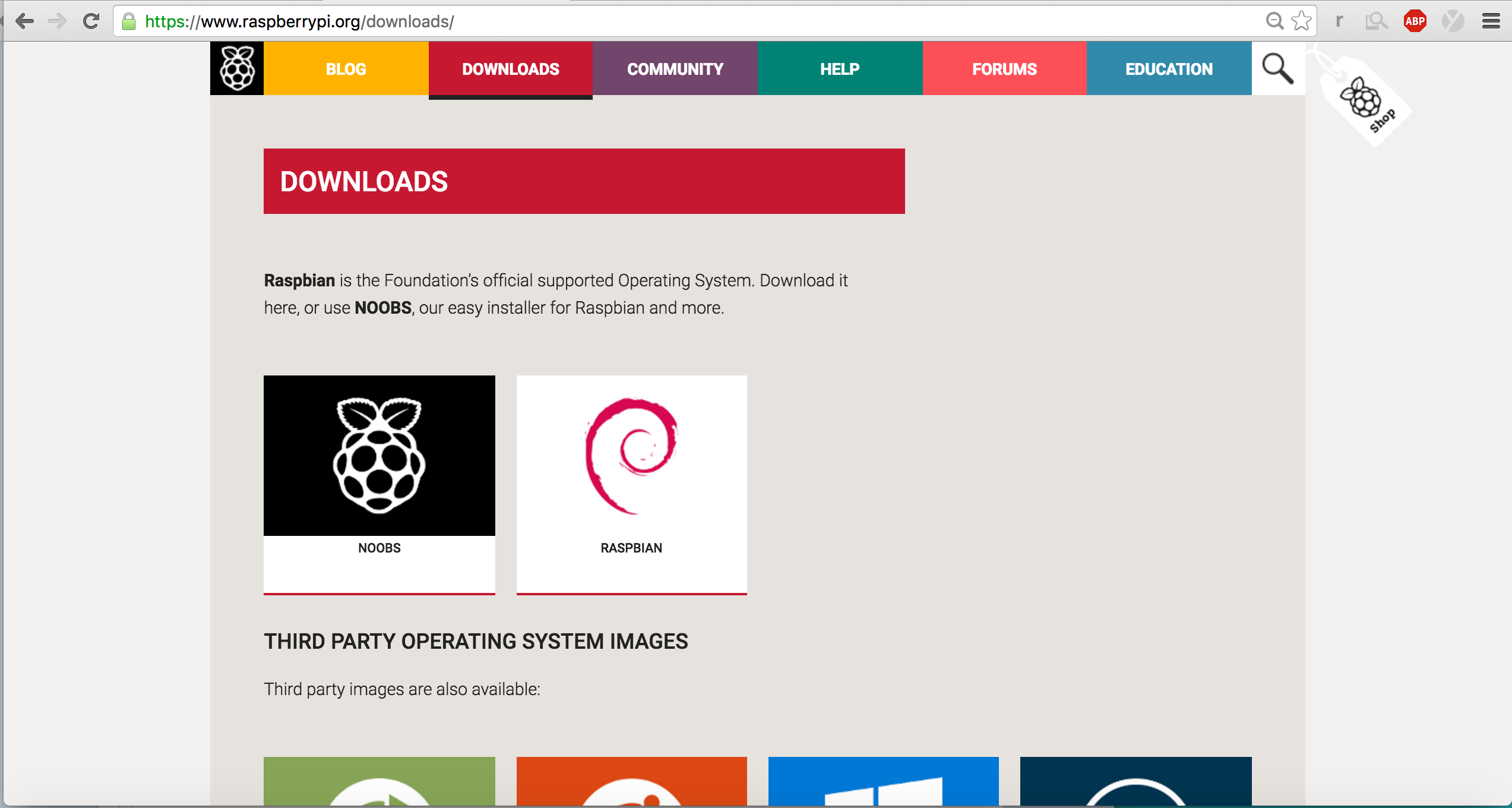 Picture of  Download Raspberry Pi OS Jessie