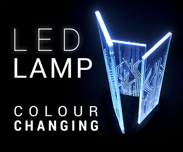Glowing Circuit Board Lamp