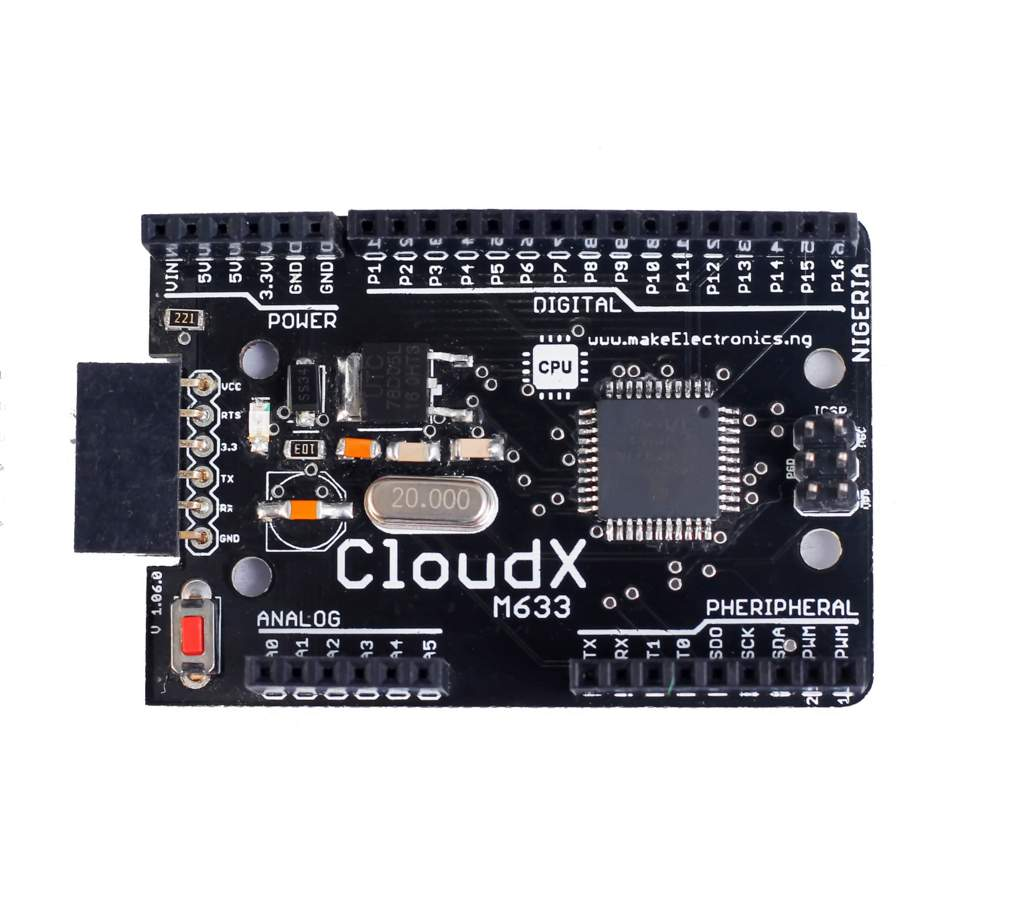 Picture of CloudX Microcontroller Board