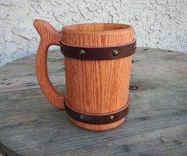 42oz Wooden Beer Mug