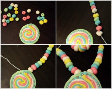 Making of Rainbow Candy Necklace