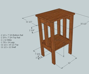 One Board Simple Side Table Using the Kreg Pocket Hole Jig