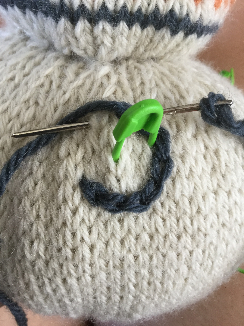 Picture of Stuffing and Stitching Up