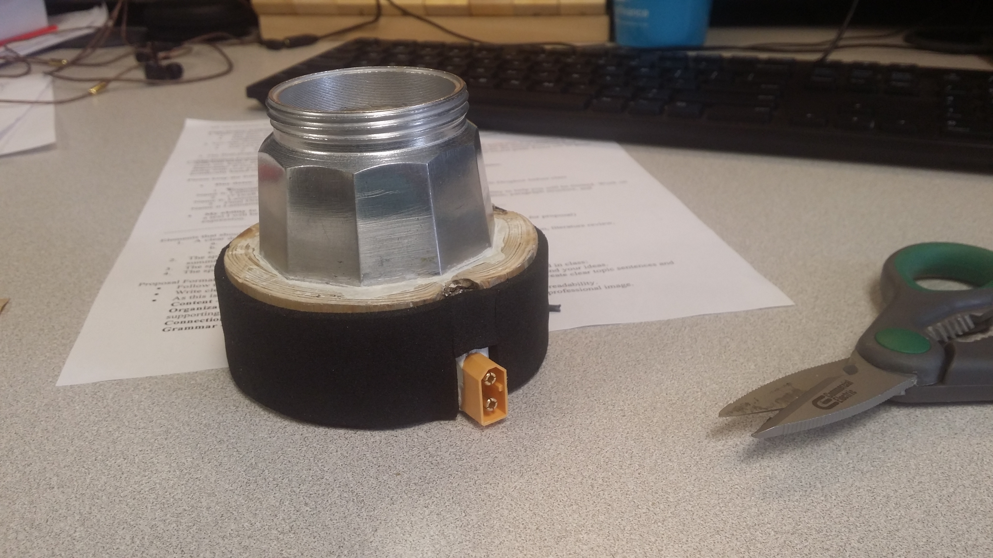 """Picture of Place in Your Moka Pot, Putty Around, File Flat and """"decorate"""""""