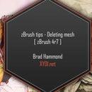 zBrush Tips: Deleting Mesh [zBrush 4r7]