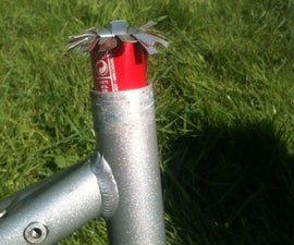Seat post adaptor made with soda cans
