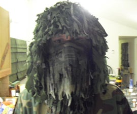 Home made ghillie suit (Head only) so far.....