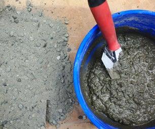 Mixing + Pouring Concrete