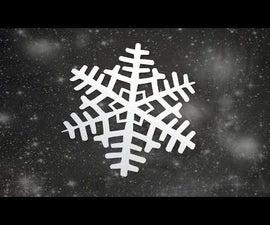 DIY Paper Snowflakes 2 | Paper Snowflake - Winter Craft 2