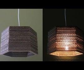 Hexagonal Cardboard Lamp