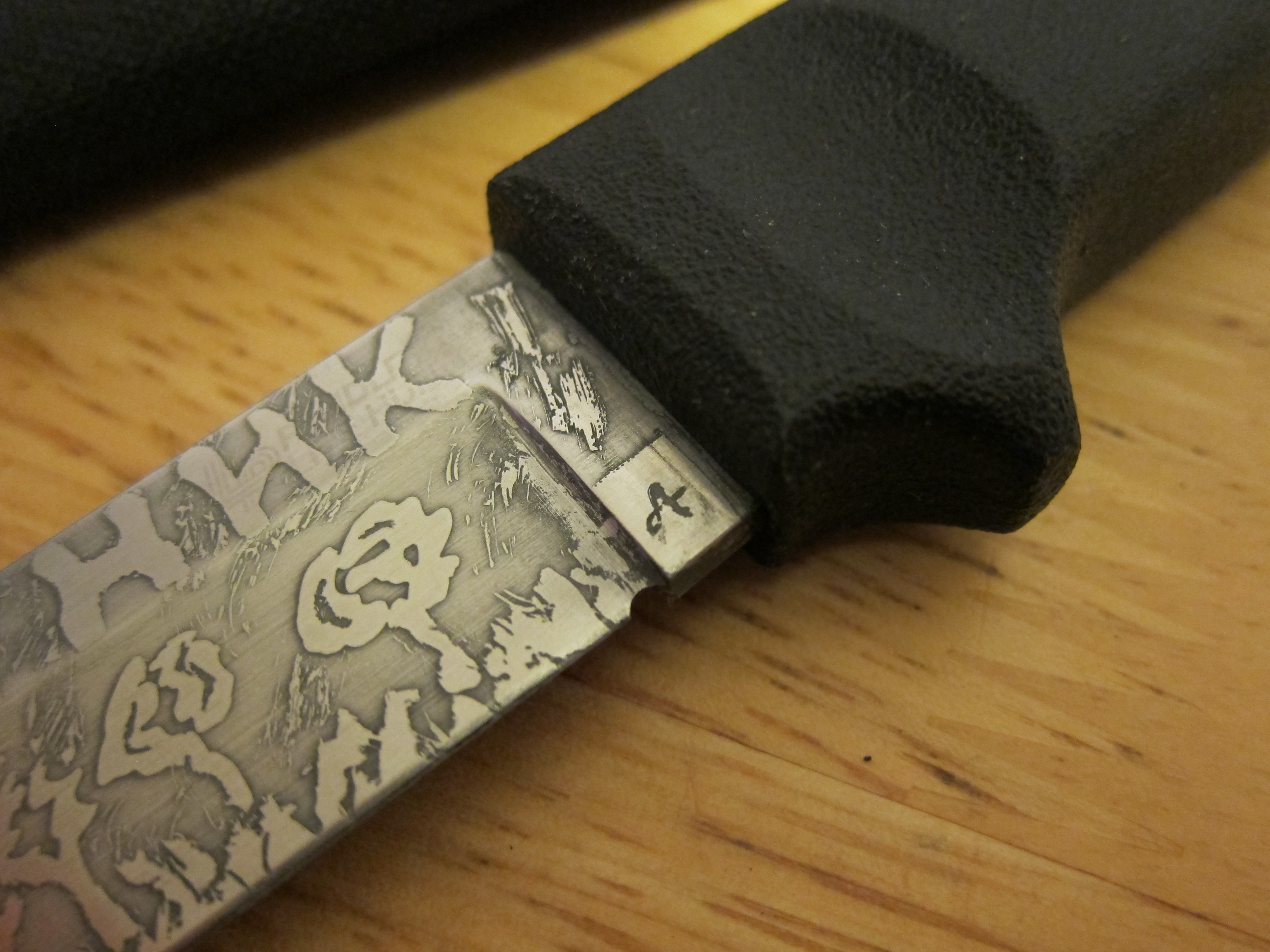 Picture of Acid Knife Etching | DIY | Quick and Easy Way of Making Your Knife Look Cool.